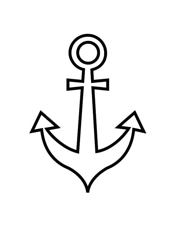 600x776 Anchor Coloring Page For Anchor Coloring Page 21 Navy Anchor