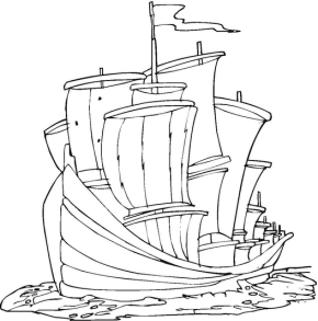 290x293 Boats Viking Ship Coloring Page, Anchor Coloring Page, Ship