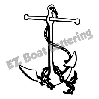 330x330 Anchor 1 Boat Graphic Decal Vinyl