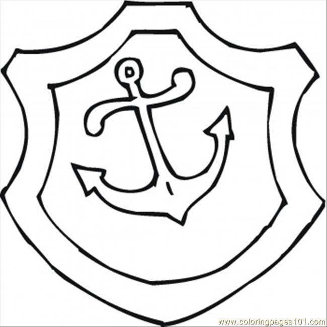 650x650 Anchor Coloring Page