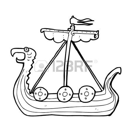 450x450 Cartoon Viking Ship Royalty Free Cliparts, Vectors, And Stock