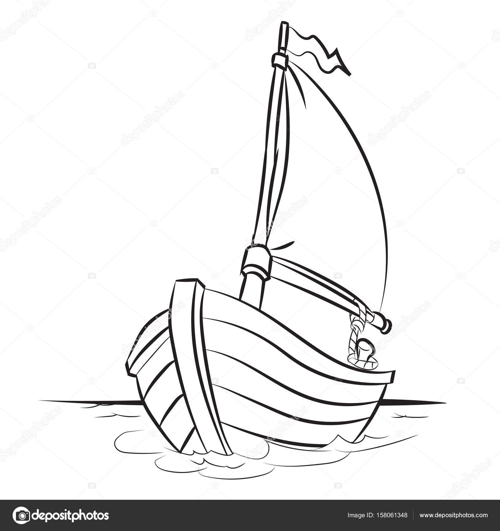 1600x1700 Boat Cartoon