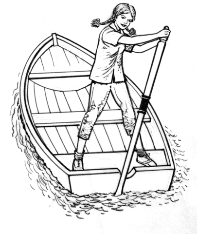 405x480 Girl On A Boat Coloring Page Free Printable Coloring Pages