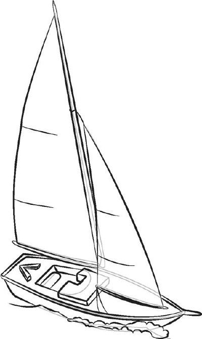 400x672 How To Draw Sailboats In 6 Steps Boating, Drawings And Drawing