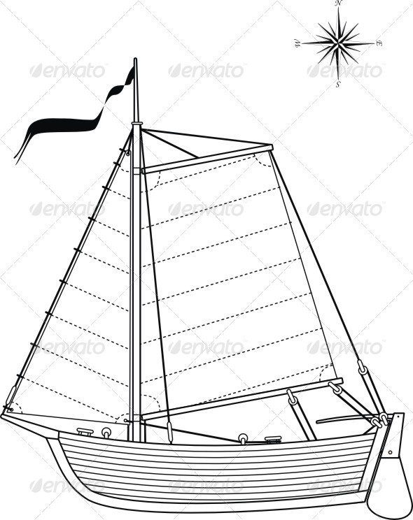 590x744 Sailing Vintage Boat By Advrt Graphicriver