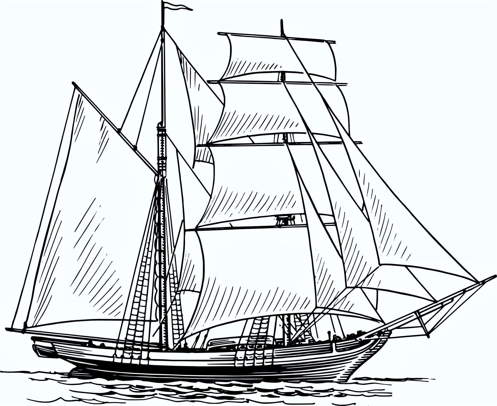 1920x1569 Boat Drawing