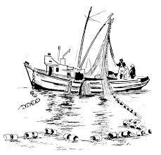 229x220 Fishing Boat Drawing