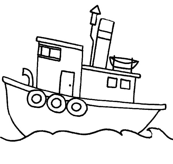 600x566 Fishing Boat Sail In The Sea Coloring Page Coloring Sun