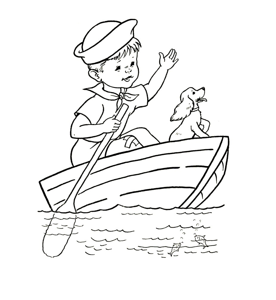925x1003 Free Printable Boat Coloring Pages For Kids
