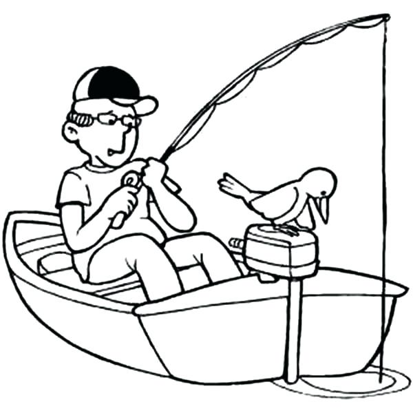 600x600 Perfect Coloring Pages Boats Print Fishing Boat For Kids On Little