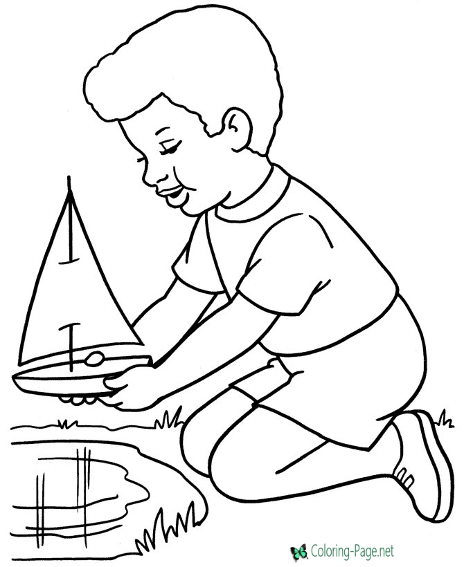 670x820 Boat Coloring Pages