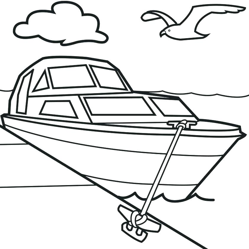 842x842 Canal Boat Coloring Page Fishing Boat Coloring Pages Fishing Boat
