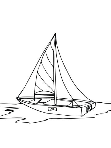 360x480 Dinghy Boat Coloring Page Free Printable Coloring Pages