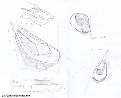400x324 How To Draw A Boat!! A Step By Step Drawing Lesson Drawing Lessons