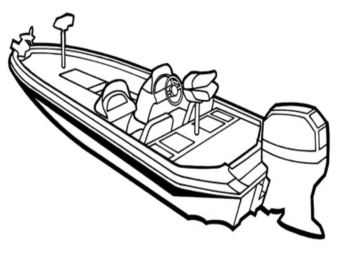 1280x960 Bass Boat Coloring Sheet Pages Lego Kids