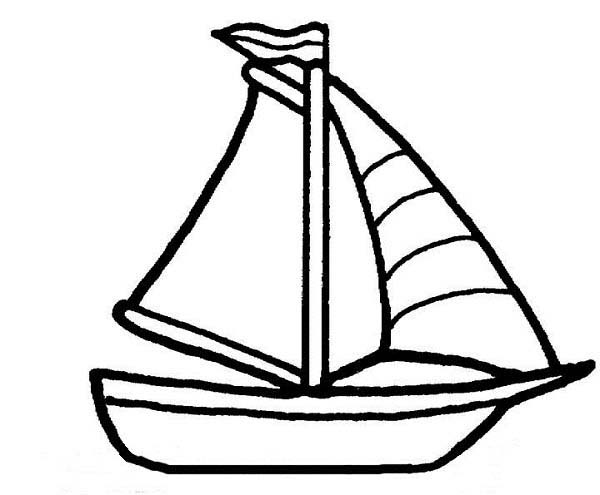 600x495 Boat Coloring Page