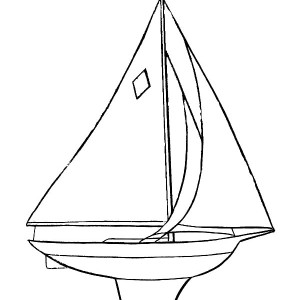 300x300 Little And Simple Boat Coloring Page Coloring Sun