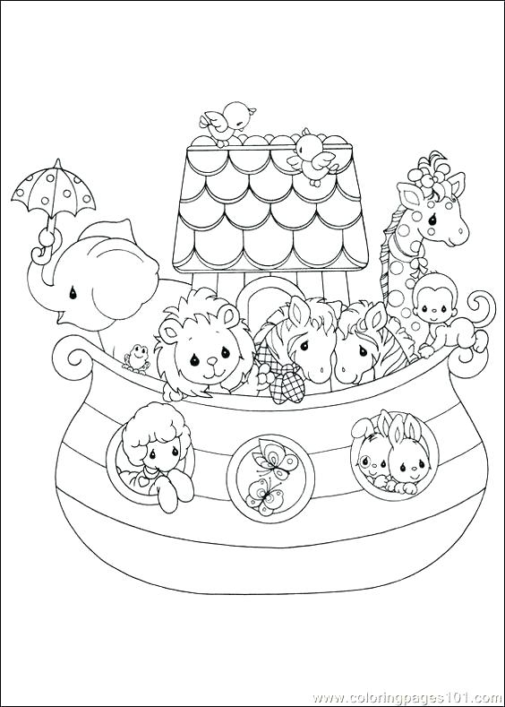 564x789 Simple Noah Coloring Page Best Of Ark Pages Plus With Rainbow As