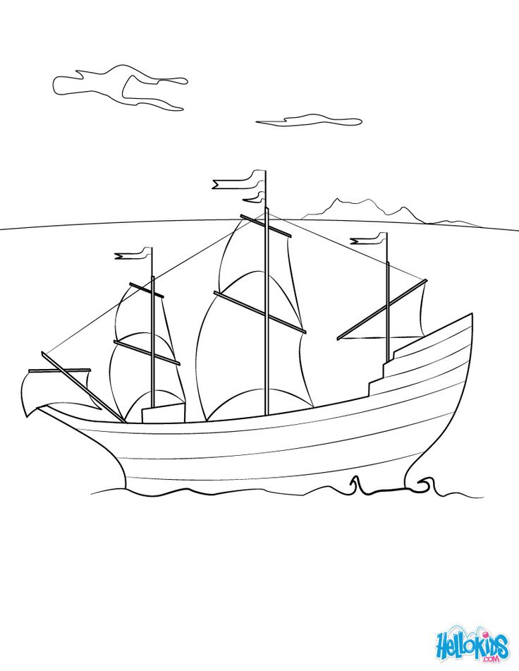 Boat In Water Drawing