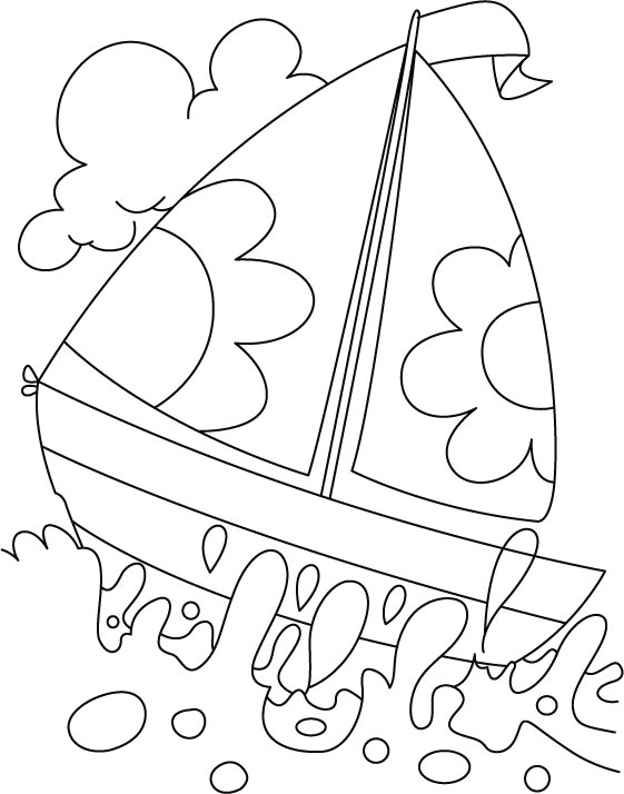 561x714 A Boat In Deep Water Coloring Page Download Free A Boat In Deep