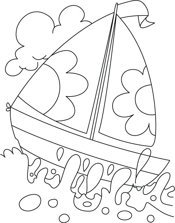561x714 Water Coloring Pages A Boat In Deep Water Coloring Page Water