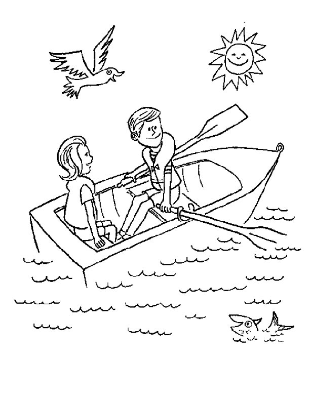 612x792 Rowboat Coloring Pages