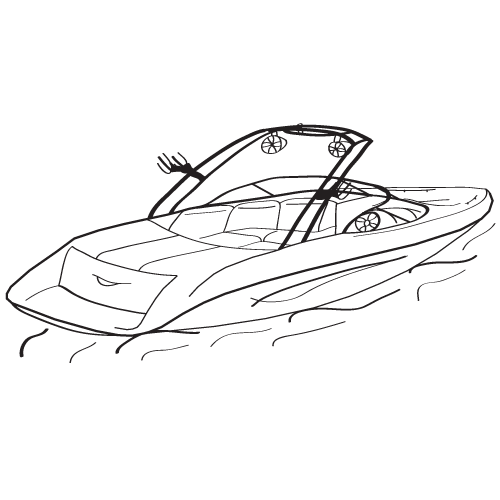 500x500 Runabout Boat Cover