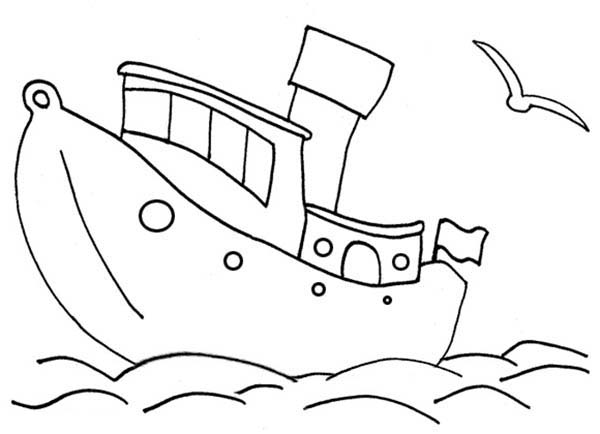 600x434 Sailing Boat Vessels Coloring Pages Batch Coloring