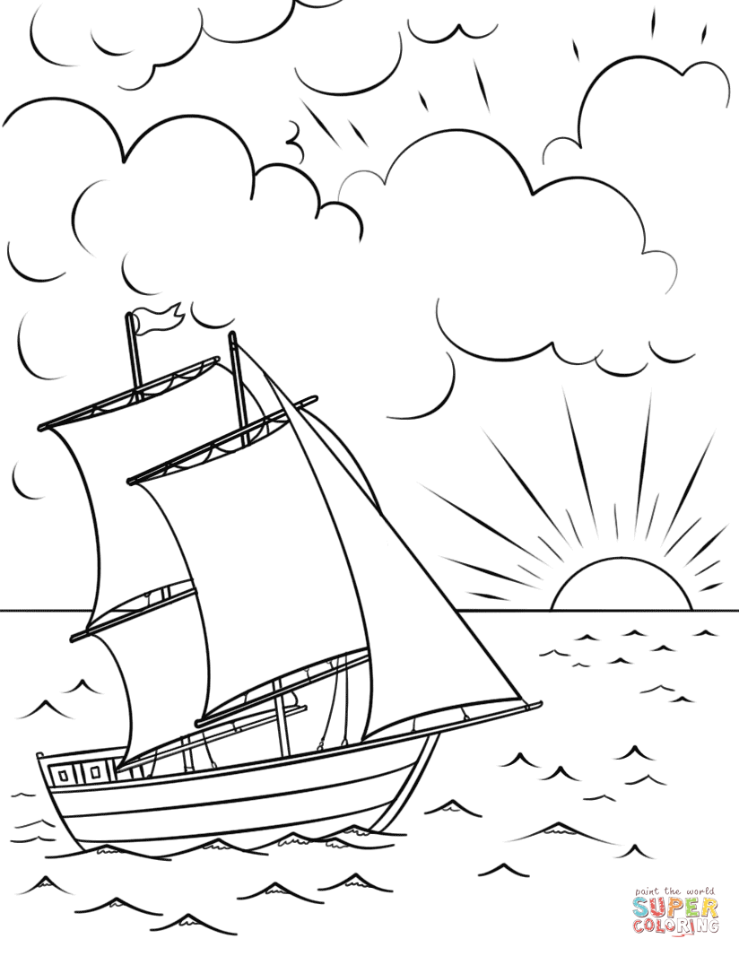 824x1066 Ships And Boats Coloring Pages Free Coloring Pages