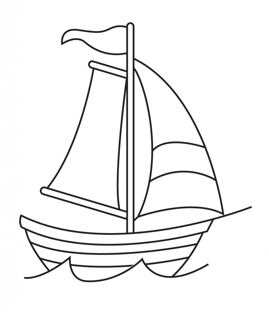 how to draw a speedboat easy
