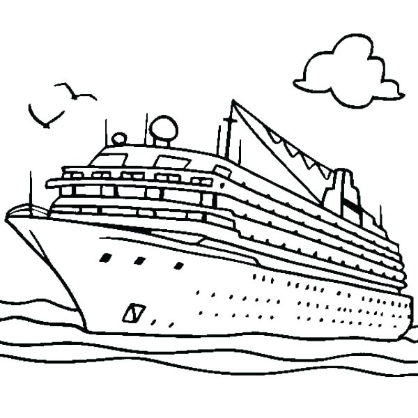 600x600 Coloring Pages Boats Coloring Page Boat Boat Coloring Page Free