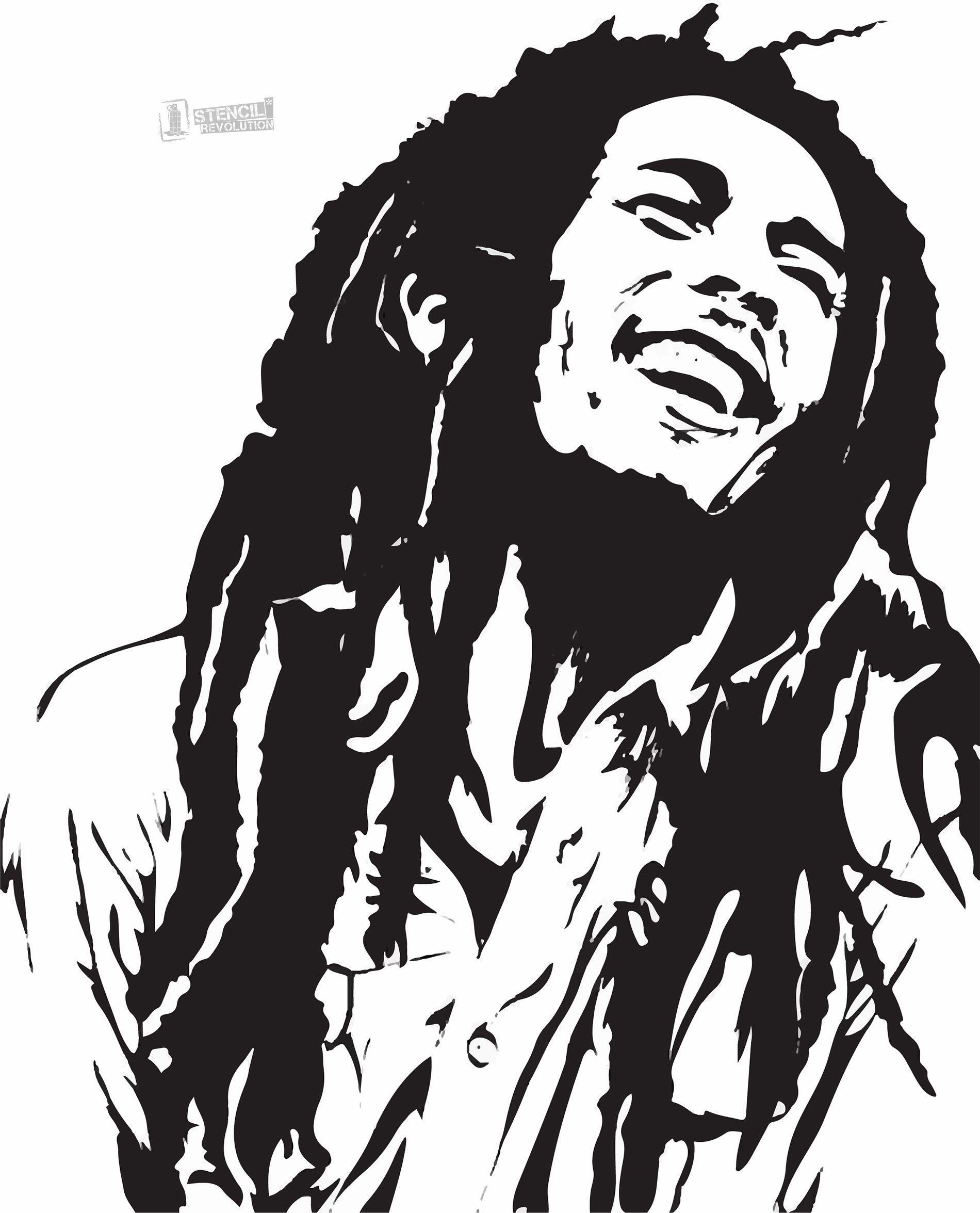 1900x2351 Bob Marley Stencil For Crafts Amp Walls Printable Stencils, Bob