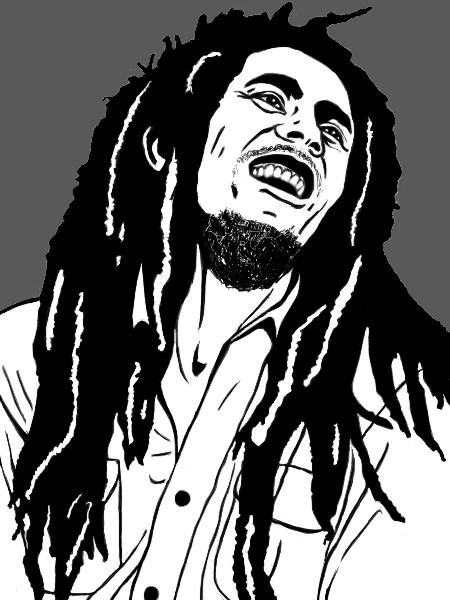Bob Marley Cartoon Drawing At Getdrawingscom Free For Personal