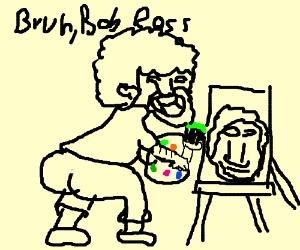300x250 Bob Ross Painting Bob Ross (Drawing By Verbis)