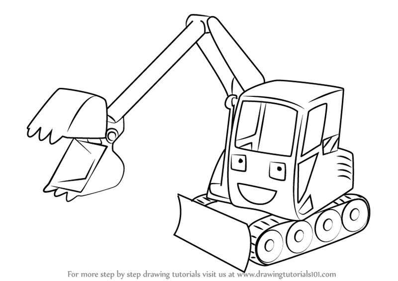 800x566 Learn How To Draw Grabber From Bob The Builder (Bob The Builder