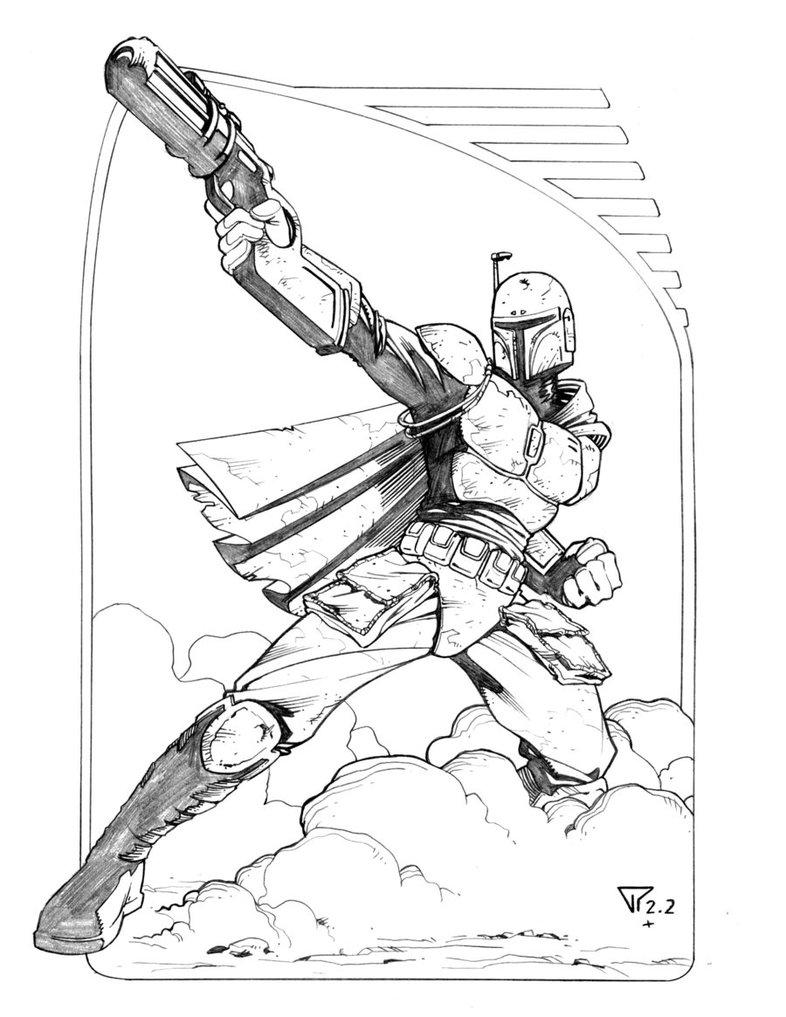Boba Fett Drawing at GetDrawings.com | Free for personal use Boba ...
