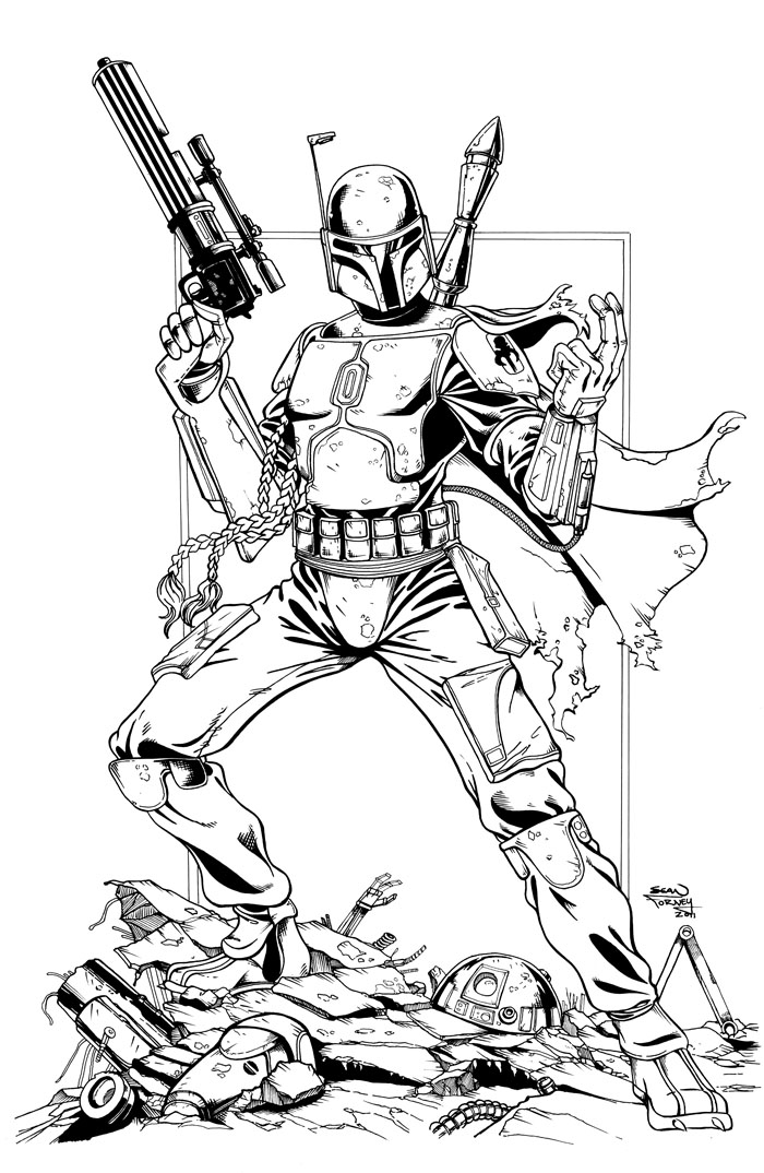 Boba Fett Helmet Drawing at GetDrawings.com   Free for personal use ...