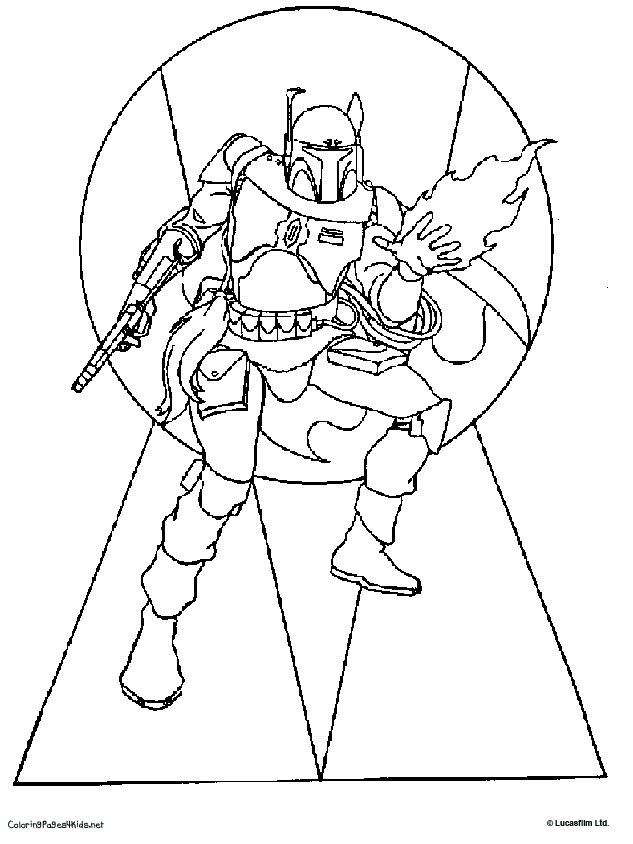 633x844 Jango Fett And Boba Fett Pictures To Color