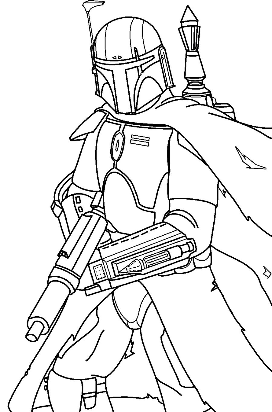 Charming Boba Fett Helmet Coloring Page Photos - Entry Level Resume ...