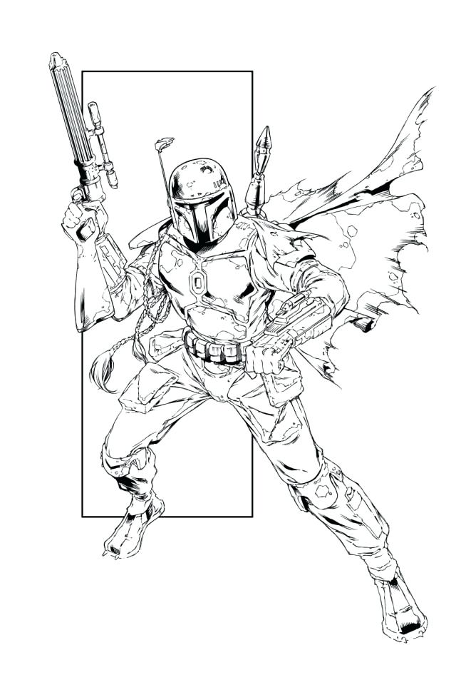 640x960 Boba Fett Coloring Page Coloring Pages Lego Boba Fett Coloring