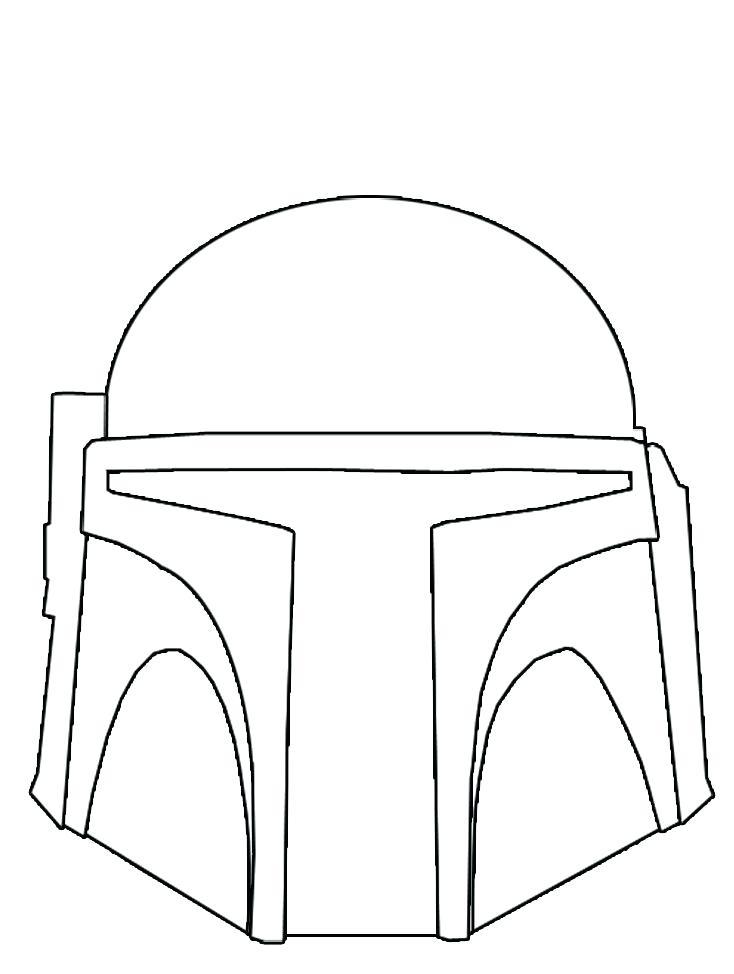 734x974 Boba Fett Coloring Page Helmet Stencil Google Search Boba Fett
