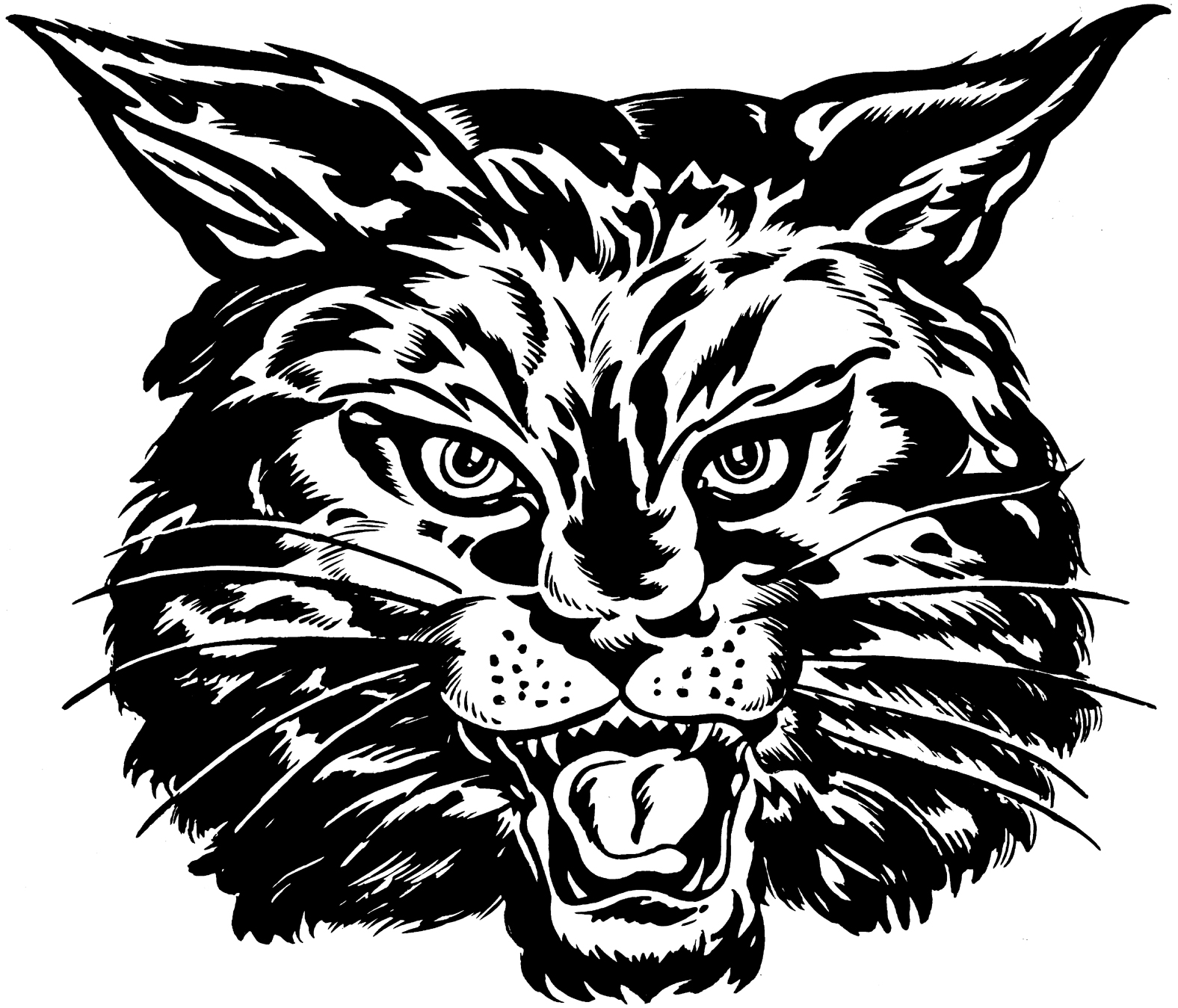 bobcat face drawing at free for personal use bobcat face drawing of your choice. Black Bedroom Furniture Sets. Home Design Ideas