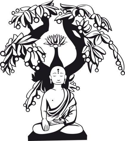 420x472 Buddhist Bodhi Tree Tattoo