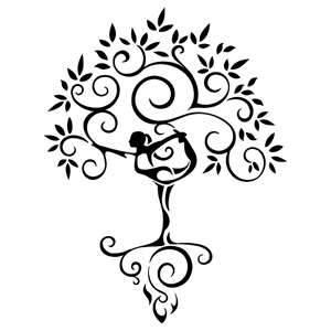 300x300 Yoga Tree Woman Tattoojpg Art Inspiration Tree