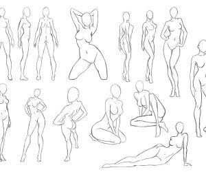 300x250 Female Body Drawing 5 Mujeres Body Drawing, Female