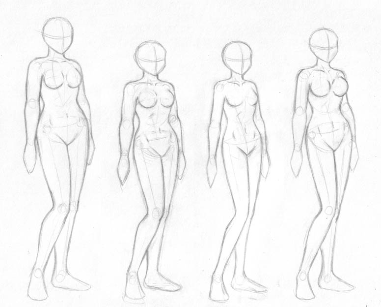 776x624 Female Body Sketches By Merrypaws