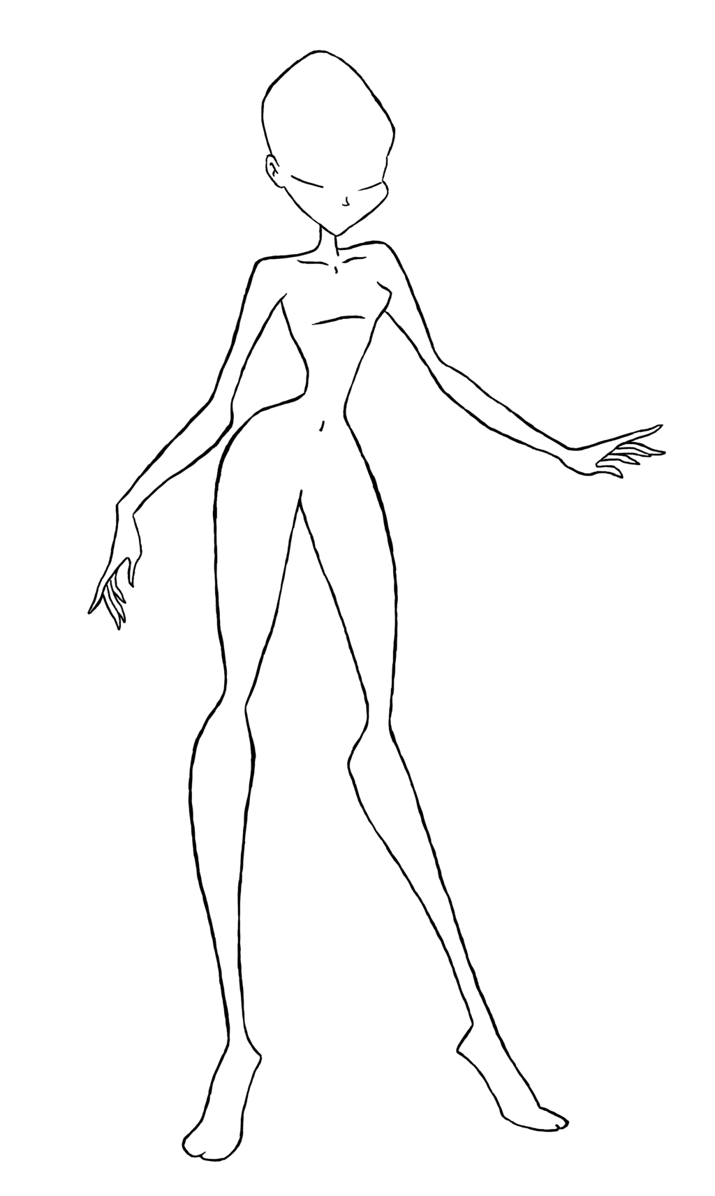 1024x1713 Winx Sketch Base By Rainbowmagicmoon