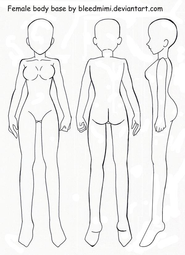 600x826 Female Body Base By Bleedmimi