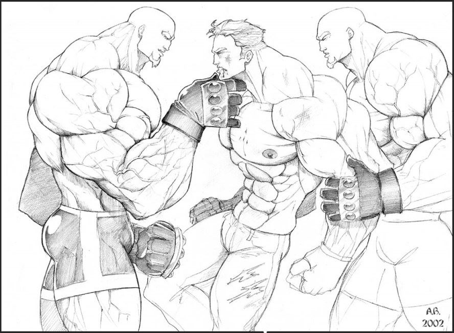 Body Builder Drawing