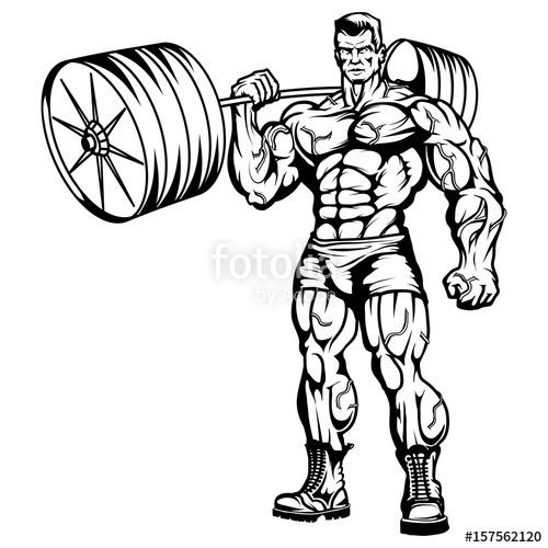 500x500 Gym Logo.bodybuilder The Muscular Body.sexy Man